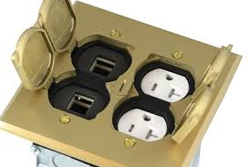 brass electrical floor boxes for recessed floor box enerlites