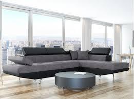 canapé d angle carré canapé d angle droit convertible avec coffre noir gris