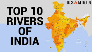 Map Of India With States by Top 10 Rivers Of India Longest Rivers In India With Origin And