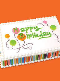 decorating idea birthday balloons sheet cake