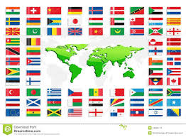 Conutry Flags Country Flags With World Map Stock Vector Image 24669774