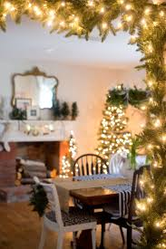 domestic fashionista rustic and natural christmas dining room