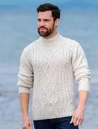 mens turtleneck sweater wool aran mock turtleneck sweater mens mock turtleneck