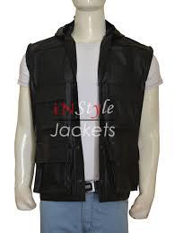 leather vest johnny cage mortal kombat game leather vest instylejackets