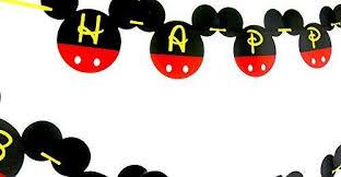 mickey mouse 1st birthday mickey mouse 1st birthday banner one birthday banner happy