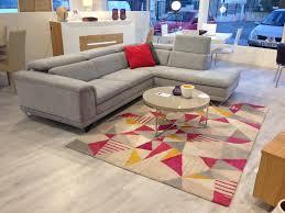 mobilier de canapé d angle canapé d angle avec têtières relevables en tissu et microfibre