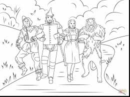 Outstanding Scarecrow Wizard Of Oz Coloring Pages With Scarecrow Wizard Of Oz Coloring Pages