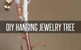 diy hanging jewelry tree