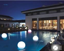 battery operated floating pool lights 30cm ip68 led floating ball led magic ball led illuminated swimming