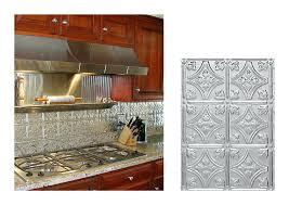 metal backsplash for kitchen pressed tin tiles backsplash kitchen stainless steel subway tile
