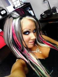 white hair with black lowlights black and blonde hair