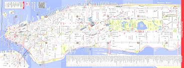 New York City Attractions Map by Map Of Nyc Tourist Attractions Sightseeing Tour At Map Downtown Ny