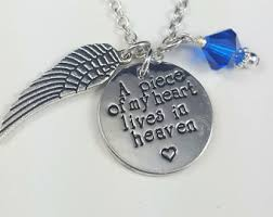 Personalized Memorial Necklace Heaven Necklace Etsy