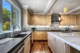 maple kitchen cabinets with white granite countertops 53 high end contemporary kitchen designs with wood