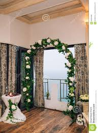 wedding arches inside wedding arch inside restaurants stock photo image 90361666