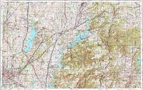Tulsa Map Download Topographic Map In Area Of Tulsa Fayetteville Broken