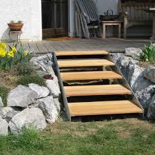 treppen und gel nder treppe terrasse design