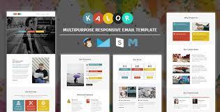 themeforest kalor multipurpose responsive email template