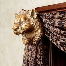 Window Scarf Valance Holders Lion Head Scarf Holder Pair