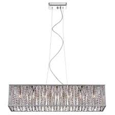 Home Depot Decorating Store by Home Decorators Collection 7 Light Chrome With Woven Laser Cut