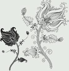 black flowers ornament free vector 23 515 free vector
