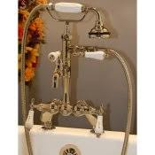 bathtub rim deck mounted faucets classic clawfoot tub