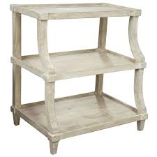 French Country Outdoor Furniture by Malo French Country Grey Wash Curved End Table Kathy Kuo Home