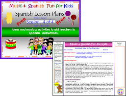 music and spanish fun free spanish lesson plan 4