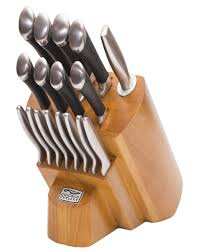 home chicago cutlery stainless knife block set 100 reg 150