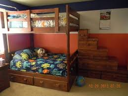 Plans For Twin Over Full Bunk Beds With Stairs by Twin Over Full Bunk Bed With Stairs Bunks And Beds Stair Bunk
