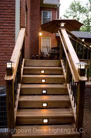 garden steps highpoint deck landscape lighting