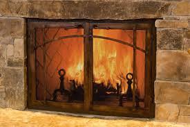 gas fireplace glass door cleaner doors energy efficiency wood