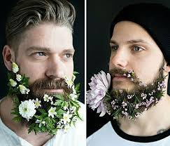 Flowers For Men - latest trend men with flowers in their beards bored panda