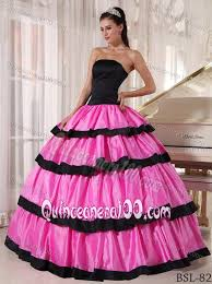 birthday dress multi tiered pink and black sweet 15 16 birthday dress