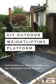 diy outdoor weightlifting platform and rack weightlifting squat