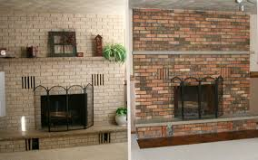 whitewash stone fireplace before and after stovers