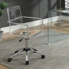 clear acrylic l base acrylic office furniture coaster office chairs acrylic chair with