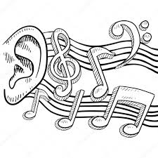 an ear for music sketch u2014 stock vector lhfgraphics 13920324