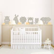Wall Decals Baby Nursery Zoo Babies Wall Decal