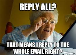 Reply All Meme - reply all that means i reply to the whole email right grandma