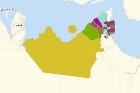 map arab map territories for united arab emirates