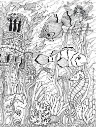 sea coloring pages adults girls christian marine free