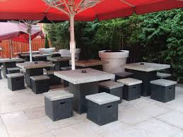 Commercial Outdoor Tables Patio Furniture Modern Wood Patio Furniture Large Painted Wood