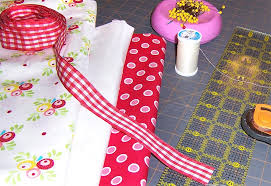 kitchen curtains with ribbon ties sew4home