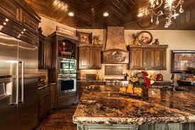Mediterranean Kitchen Tiles - mediterranean kitchen with raised panel u0026 stone tile in tulsa ok