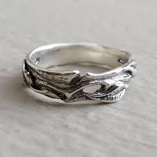 silver wedding band vertrees engagement wedding rings men s leaf