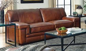 Leather Sofa Store Chestnut Stede Leather Sofa Haynes Furniture Virginia S