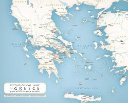 Blank Map Of Mediterranean by Greek Mythology Maps Mythological Map Of Greece