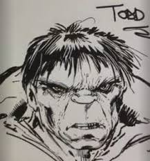 todd mcfarlane draws the hulk you have to see the video an