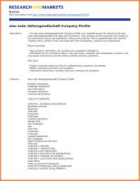 company report format template 5 sle of company profile for a new company company letterhead